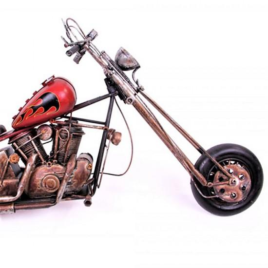 Nostaljik Cooper Metal Motorsiklet (Kırmızı)