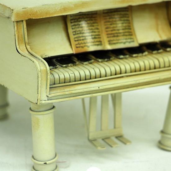 Nostaljik Dekoratif Metal Piyano Kumbara