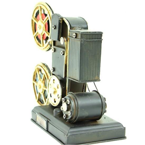 Nostaljik Dekoratif Metal Projektör Sinema Makinesi
