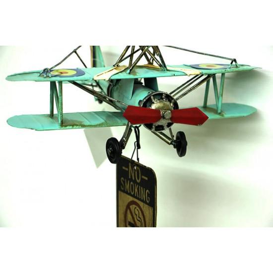 Nostaljik Dekoratif Metal Uçak Kapı Çanı Süsü
