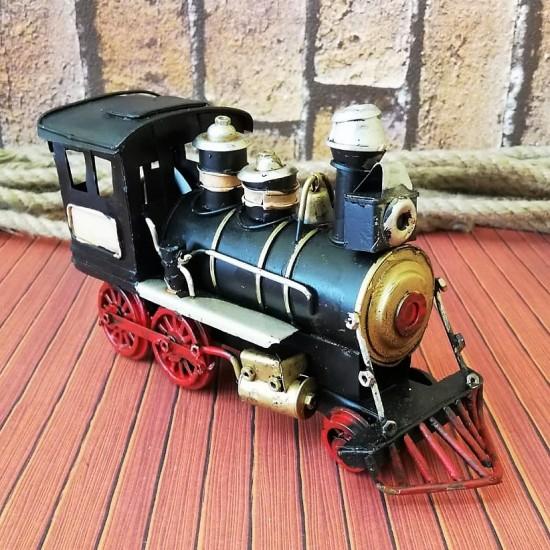 Nostaljik Metal Kara Tren Siyah Lokomotif