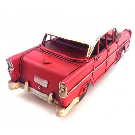 Nostaljik Metal Kırımızı Büyük Boy Chevrolet