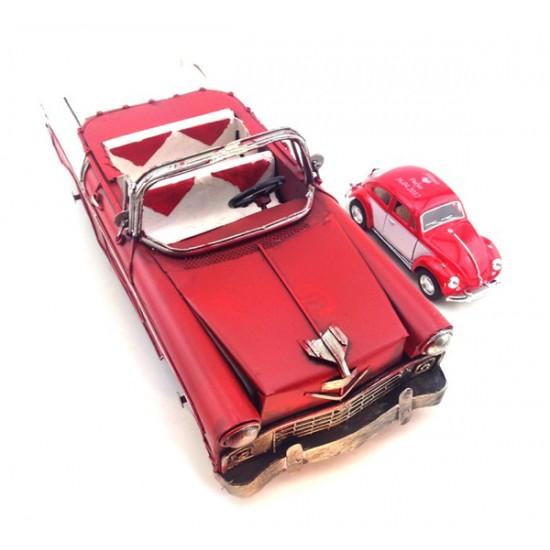 Nostaljik Metal Kırmızı Dekoratif Chevrolet (Dev Boyut)