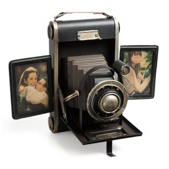Nostaljik Metal Resim Çerçeveli Fotoğraf Makinesi