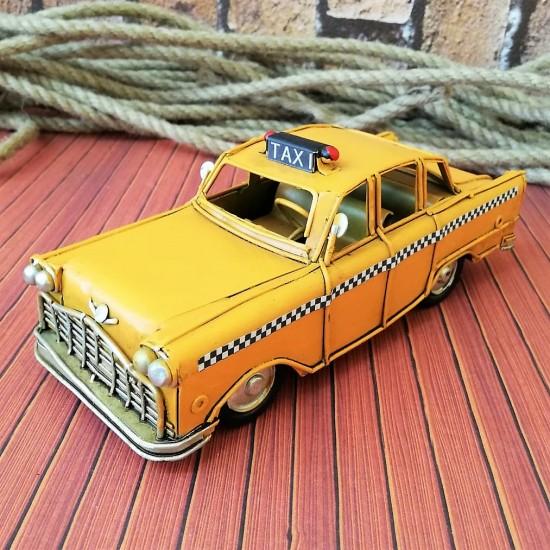 Nostaljik Metal Sarı Chevrolet Taksi