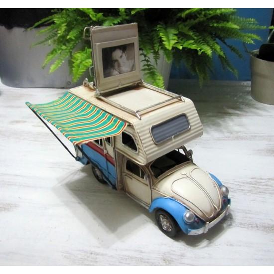 Nostaljik Metal Vosvos Minibüs Karavan Büyük Boy