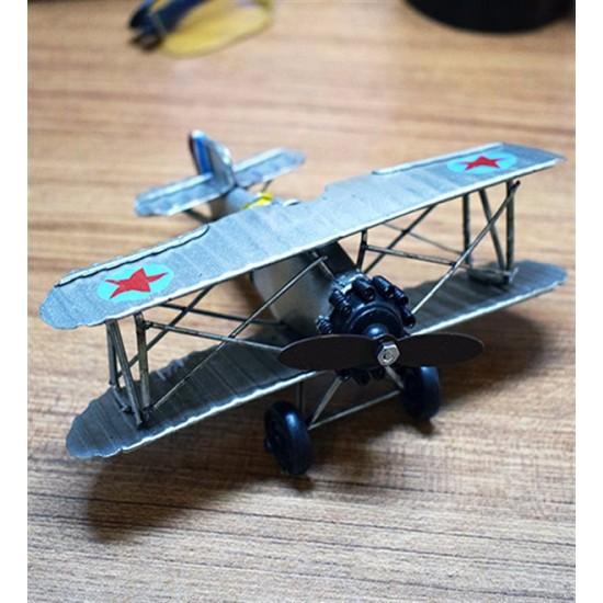 Nostaljik Metal Yıldızlı Uçak Maketi
