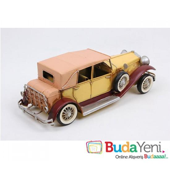 Nostaljik Sarı Metal Araba