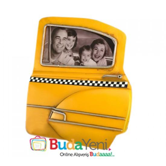 Nostaljik Taksi Kapısı Şeklinde Resim Çerçevesi