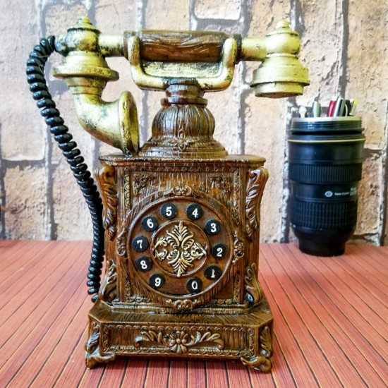 Nostaljik Telefon Görünümlü Kumbara Md1
