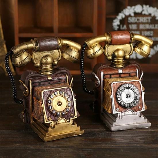 Nostaljik Telefon Görünümlü Kumbara