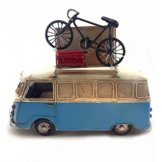 Nostaljik Vosvos Minibüs Bisikletli Kumbaralı ve Resim Çerçeveli