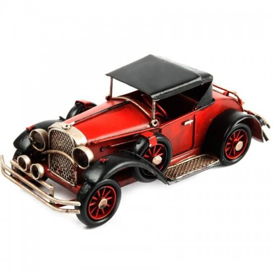 Nostaljk Dekoratif Klasik Metal Kırmızı Araba Model 2
