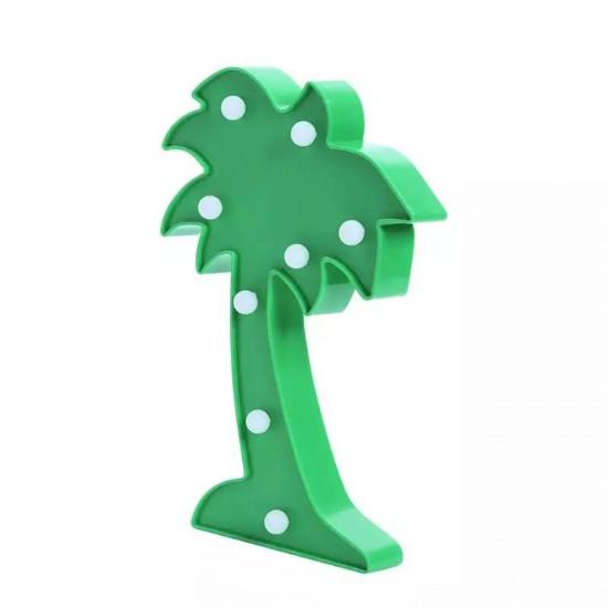 Palmiye Tasarımlı Ledli Gece Lambası