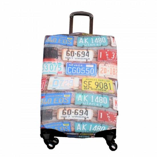 Plaka Temalı My Luggage Valiz Kılıfı