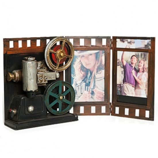 Projektör Film Makinesi Tasarımlı Nostaljik Resim Çerçevesi