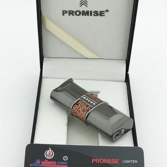 Promise Füme Taşlı Krokodil Çakmak