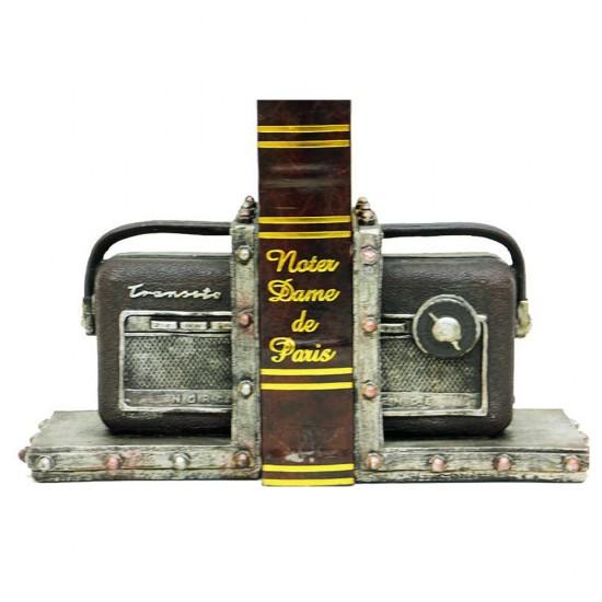 Radyo Temalı Kitap Stoper / Tutucu