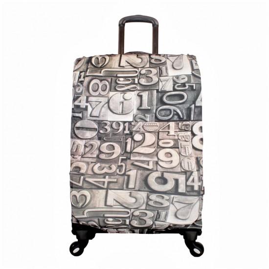 Rakam Temalı My Luggage Valiz Kılıfı