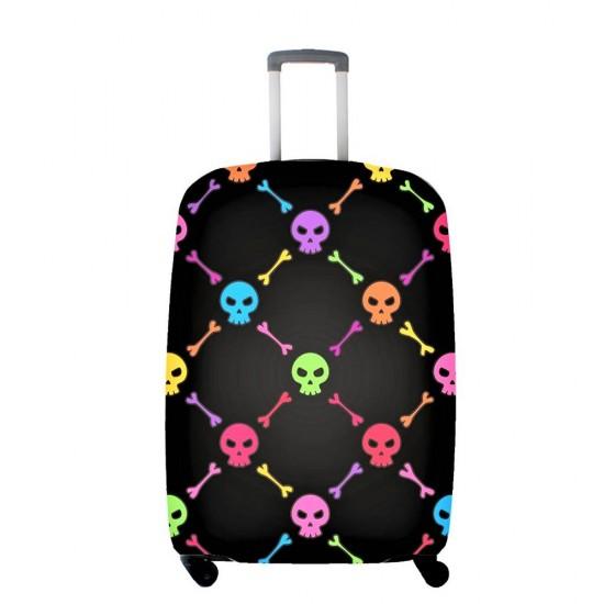 Renkli Kuru Kafa Temalı My Luggage Valiz Kılıfı