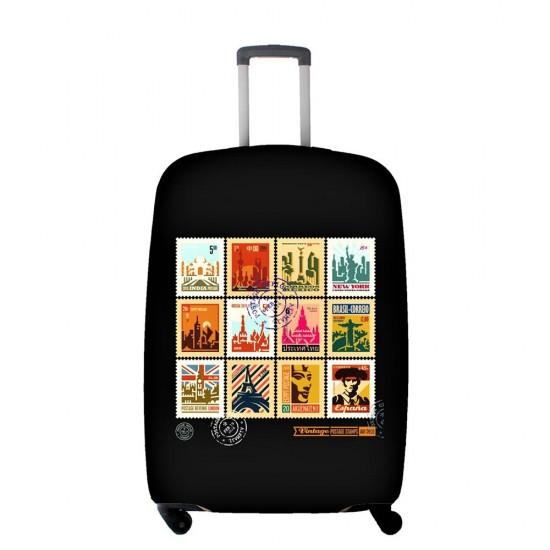 Renkli Temalı My Luggage Valiz Kılıfı