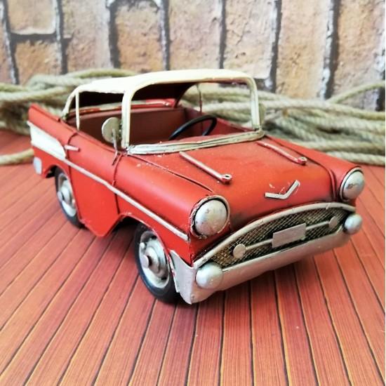 Retro Klasik Metal Araba (Kırmızı)