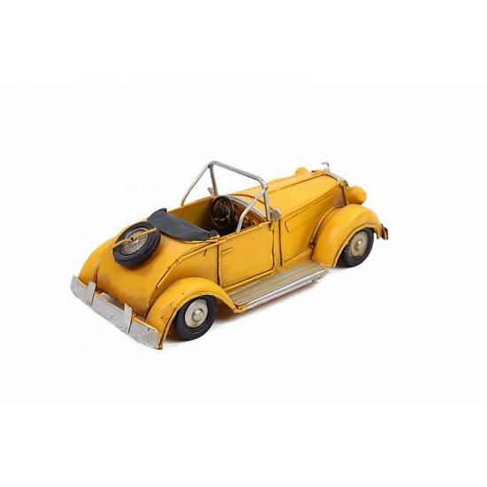 Retro Klasik Metal Araba (Sarı)