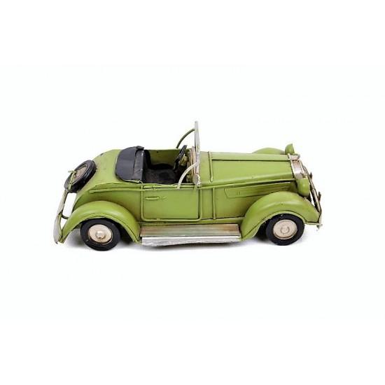 Retro Klasik Metal Araba (Yeşil)