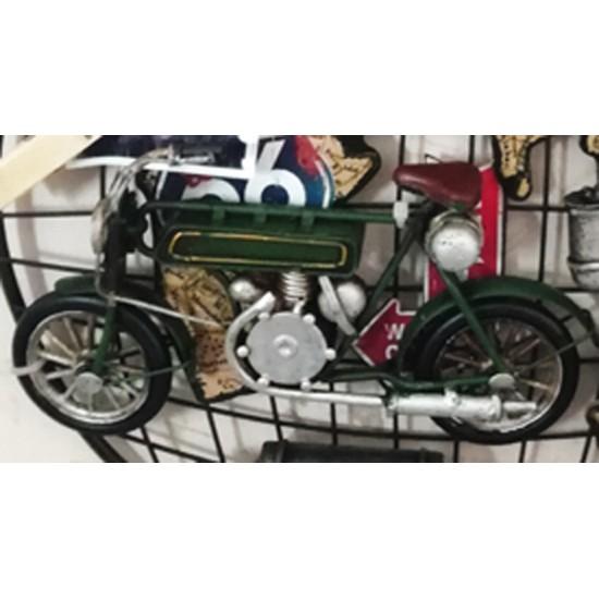 Retro Motosikletli Çerçeveli Kapı Askılığı Model 1