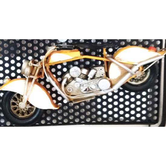 Retro Motosikletli Çerçeveli Kapı Askılığı Model 3