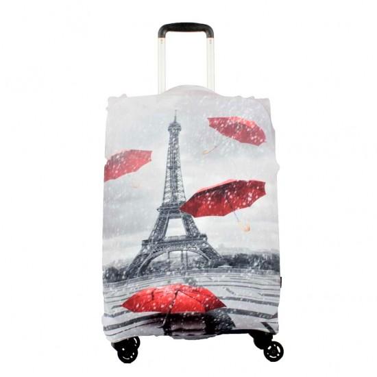 Şemsiyeli Eyfel Kulesi Temalı My Luggage Valiz Kılıfı