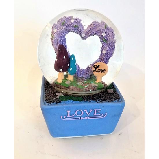Sevgi Bahçesi Kar Küresi ve Müzik Kutusu Model 2