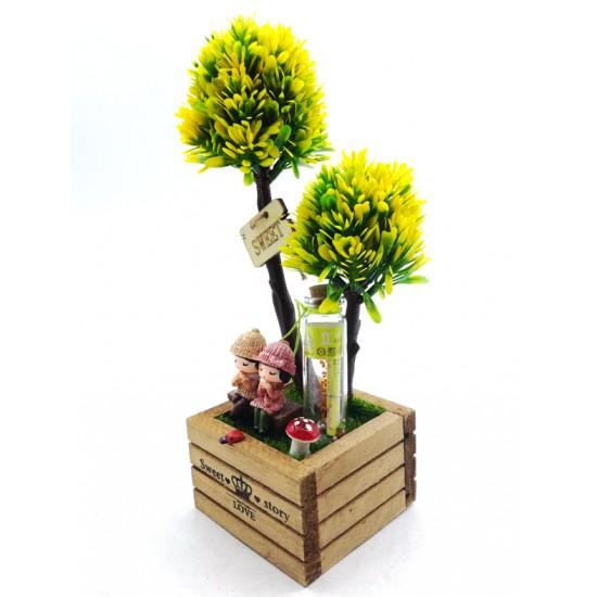 Sevgi Bahçesinde Dilek Tutan Aşıklar Model 2