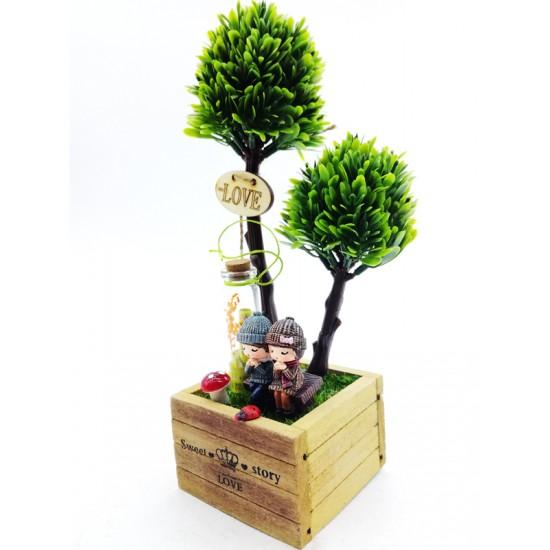 Sevgi Bahçesinde Dilek Tutan Aşıklar Model 3
