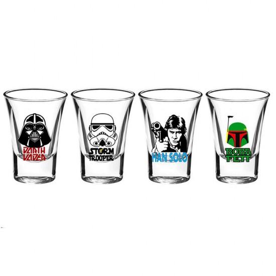 Star Wars 4'lü Shot Bardak Set