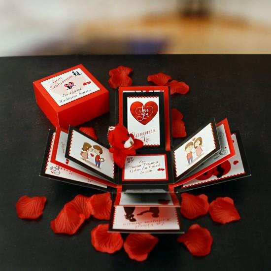 Süpriz Seni Seviyorum Patlayan Aşk Kutusu