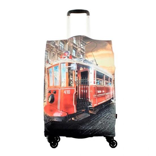 Taksim Trmvay Temalı My Luggage Valiz Kılıfı