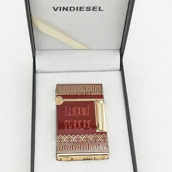 Vindiesel Desenli Çakmak (Bordo-Gold)