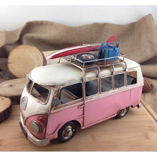 Wolkswagen Karavan Minibüs Sörfçü Metal Araba