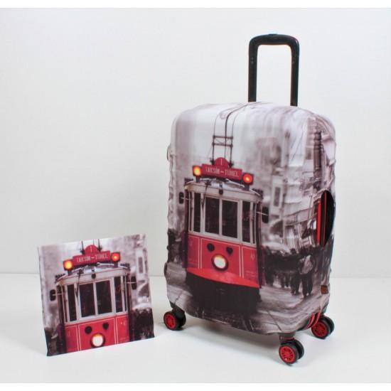 Taksim Tramvay Temalı My Luggage Valiz Kılıfı