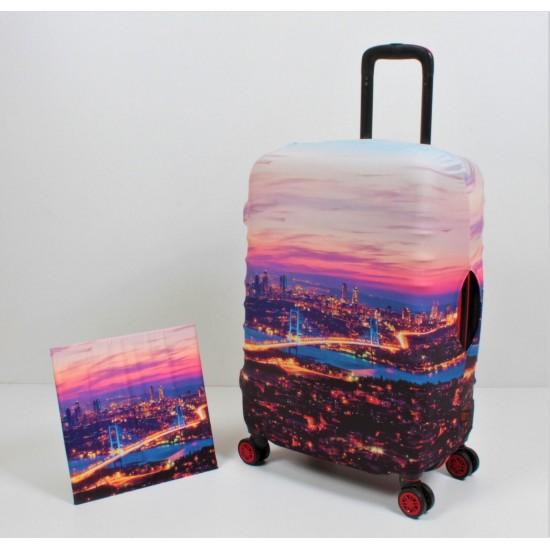 Boğaz Temalı My Luggage Valiz Kılıfı