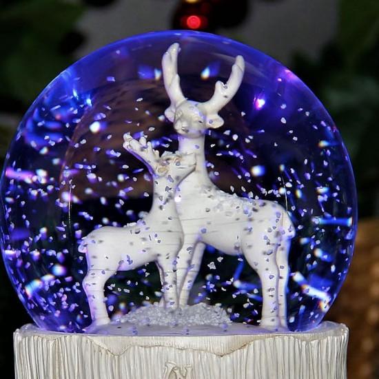 Işıklı Müzikli Geyikli Kar Küresi