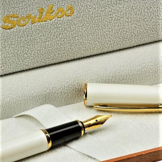 Scrikss İsme Özel  Beyaz Altın Renk Dolma Kalem