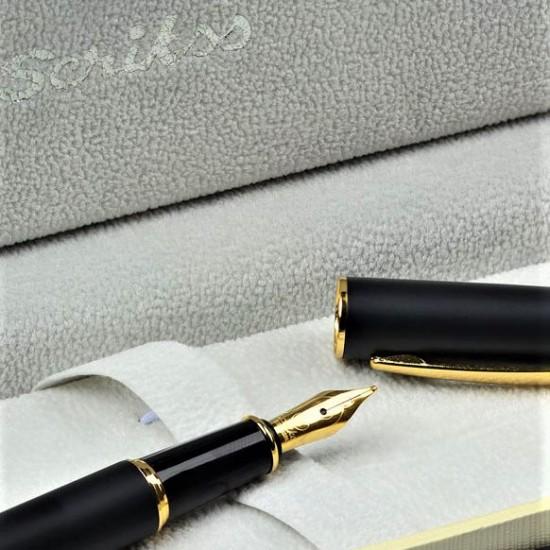Scrikss İsme Özel Siyah Altın Renk Dolma Kalem