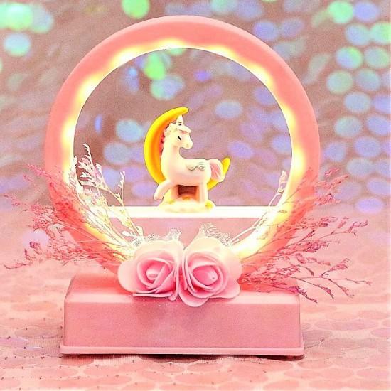 Unicorn Tasarımlı Işıklı Gece Lambası