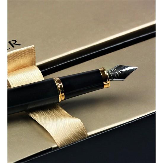 Kişiye Özel  Parker Siyah Altın Dolma Kalem